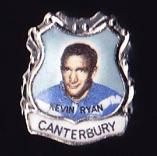 1967 Canterbury Bankstown Bulldogs NSWRL Captain Kevin Ryan Daily Mirror Pin Badge