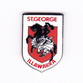 2002 St George Illawarra Dragons NRL Logo Trofe Pin Badge