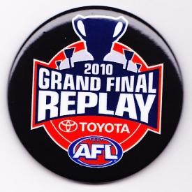2010 AFL Grand Final Replay SS Button Badge