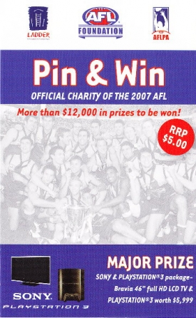 2007 AFL Premiership Cup Pin Badge