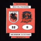 2010 NRL Grand Final Score Dragons v Roosters Pin Badge