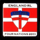 2011 England RL Four Nations Series Pin Badge e2