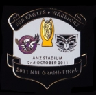 2011 NRL Grand Final Sea Eagles v Warriors Pin Badge aw