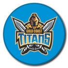 2009 Gold Coast Titans NRL Logo SS Button Badge