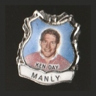 1967 Manly Warringah Sea Eagles NSWRL Captain Ken Day Daily Mirror Pin Badge