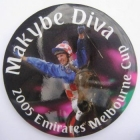 2005 VRC Melbourne Cup Makybe Diva Button Badge