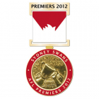 2012 Sydney Swans AFL Premiers Medal and Ribbon Pin Badge