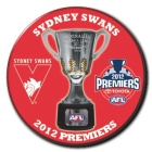 2012 Sydney Swans AFL Premiers SS Button Badge