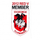 2012 St George Illawarra Dragons NRL Member Sticker