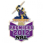 2012 Melbourne Storm NRL Premiers Trofe Pin Badge
