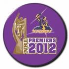 2012 Melbourne Storm NRL Premiers SS Button Badge