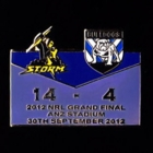 2012 NRL Grand Final Score Storm v Bulldogs Pin Badge