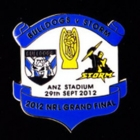 2012 NRL Grand Final Storm v Bulldogs Pin Badge ab