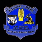 2012 NRL Grand Final Storm v Bulldogs Pin Badge as