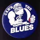 1970s Carlton Blues VFL Carn The Blues Button Badge