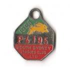 1984 South Sydney Leagues Club Pensioner Member Badge