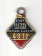 1987 Eastern Suburbs Leagues Club Associate Member Badge
