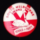 1962 South Melbourne Swans VFL Herald for Footy Button Badge