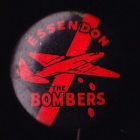 1960s Essendon Bombers The Bombers VFL Button Badge