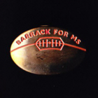 2000s AFL Barrack for MS Pin Badge