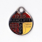 1985 Arncliffe Scots Sports & Social Member badge