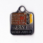 1987 Arncliffe Scots Sports & Social Member badge