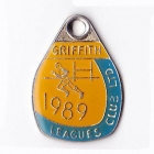 1989 Griffith Leagues Club Member Badge