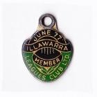 1976-77 Illawarra Leagues Club Member Badge pa
