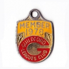 1978 Guildford Leagues Club Member Badge