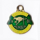 1981 Newcastle Leagues Club Member Badge