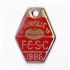 1986 Ainslie Football and Social Club Member Badge red