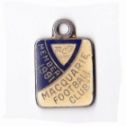 1981 Macquarie Football Club Member Badge