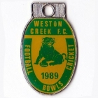 1989 Weston Creek Football Club Member Badge