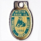 1990 Weston Creek Football Club Member Badge