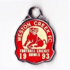 1993 Weston Creek Football Club Member Badge