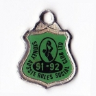 1991-92 Sydney Aussie Rules Social Club Member Badge