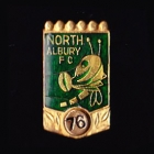 1976 North Albury AFL Football Club Member Pin Badge