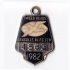 1982 Tweed Heads Rugby League Football Club Member Badge