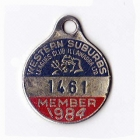 1984 Western Suburbs Illawarra Leagues Club Member Badge