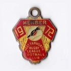 1972 West Tamworth Rugby League Club Member Badge
