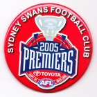 2005 Sydney Swans AFL Premiers SS Button Badge
