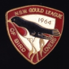 1964 Gould League of Bird Lovers NSW Member Badge Pin