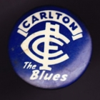 1960s Carlton Blues VFL The Blues Button Badge