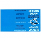 2008 Cronulla Sutherland Sharks NRL Season Draw Card
