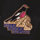 1955 Gould League of Bird Lovers Victoria Red-Capped Robin Badge Pin SHa