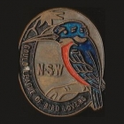 1957 Gould League of Bird Lovers NSW Member Badge Pin