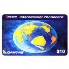 1994 Telecom Australia International $10 Qantas Phonecard