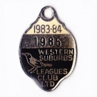 1983-84 Western Suburbs Leagues Club Member Badge