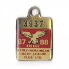 1987-88 Manly Warringah Leagues Club Member Badge