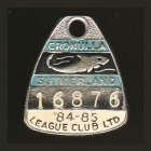 1984-85 Cronulla Sutherland Leagues Club Member Badge